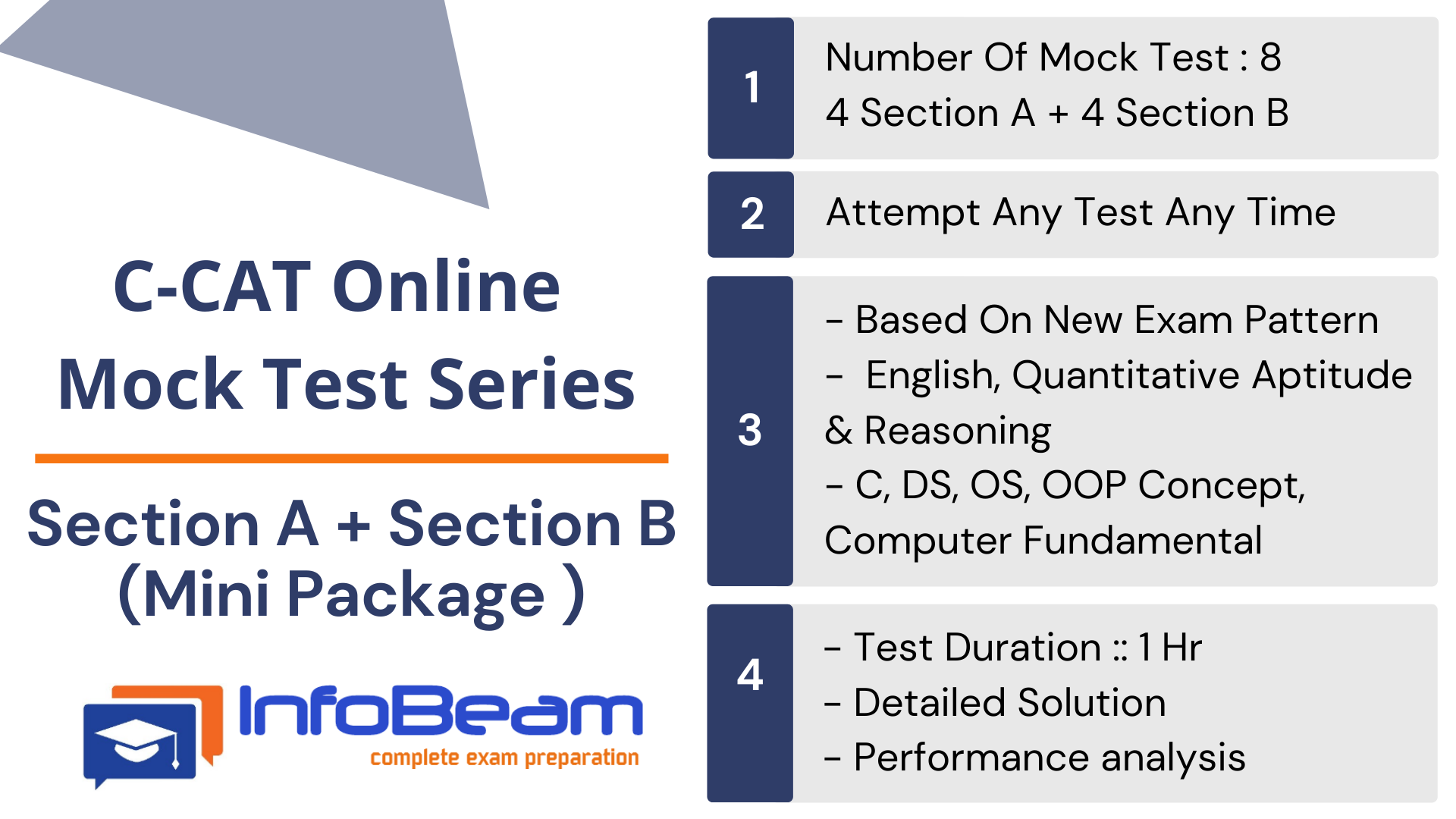 C-CAT Section A+ B Mock Test ( Mini Package )